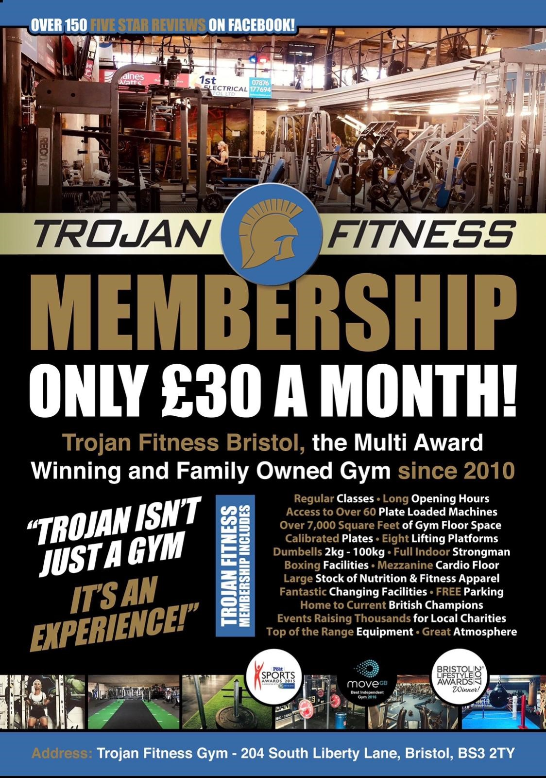 Trojan Fitness Membership only £30 a month