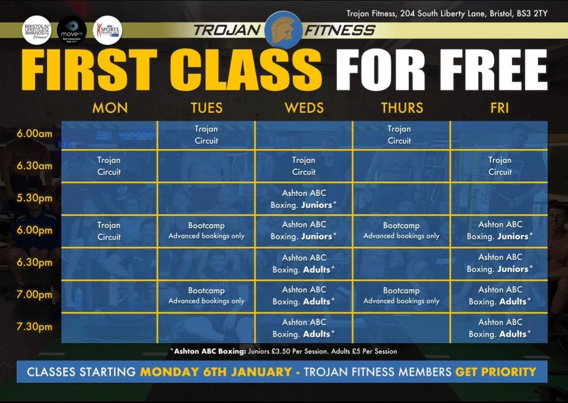 Trojan Fitness - First Class For Free