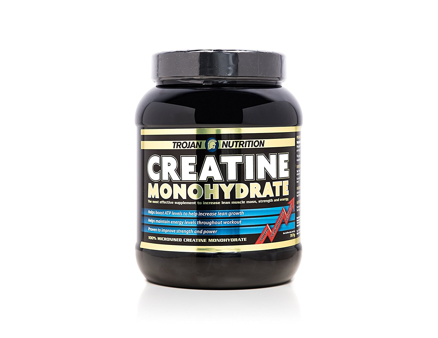 TROJAN NUTRITION 100% PURE MICRONISED CREATINE MONOHYDRATE POWDER - 317G